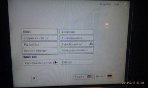 DSBs billetautomat med ikoner, der viser at automaten ikke virker
