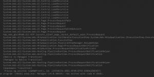 Output af debugging