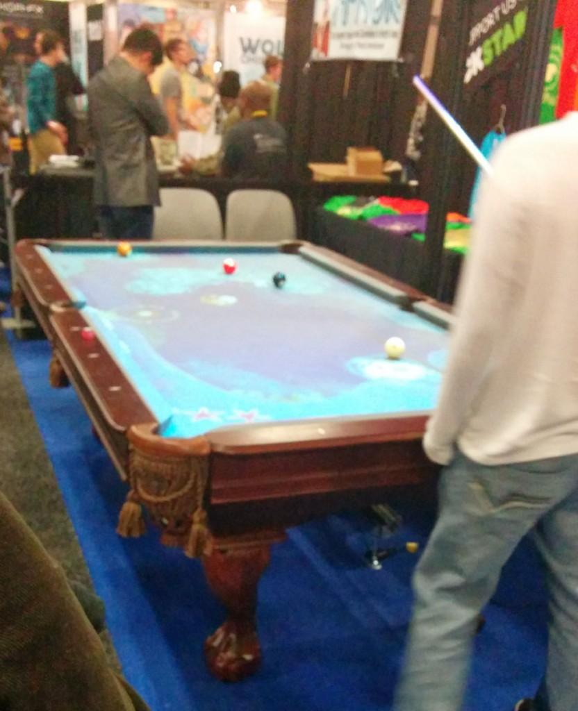SXW2014 - interaktivt poolbord