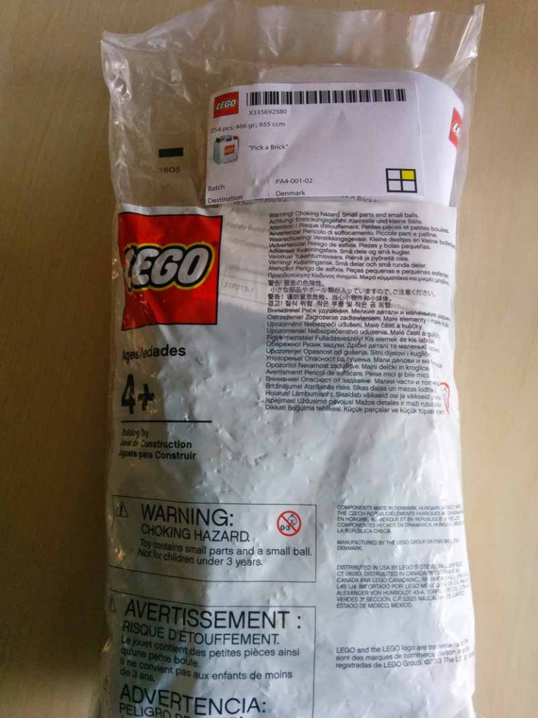 Bag of LEGO bricks