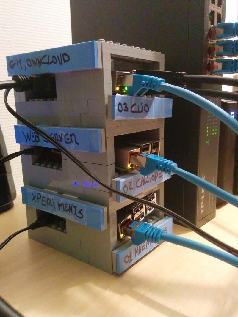Building a Raspberry Pi server rack in LEGO - larsblauridsen com